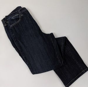 NYDJ high rise lift tuck straight leg jeans